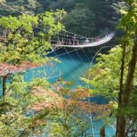 寸又峡・夢の吊り橋の紅葉(川根本町)